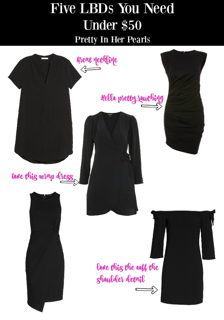 FIVE LBDS YOU NEED UNDER $50, Pretty In Her Pearls, Houston Blogger, Little black dress, Petite Blogger, Petite Fashion