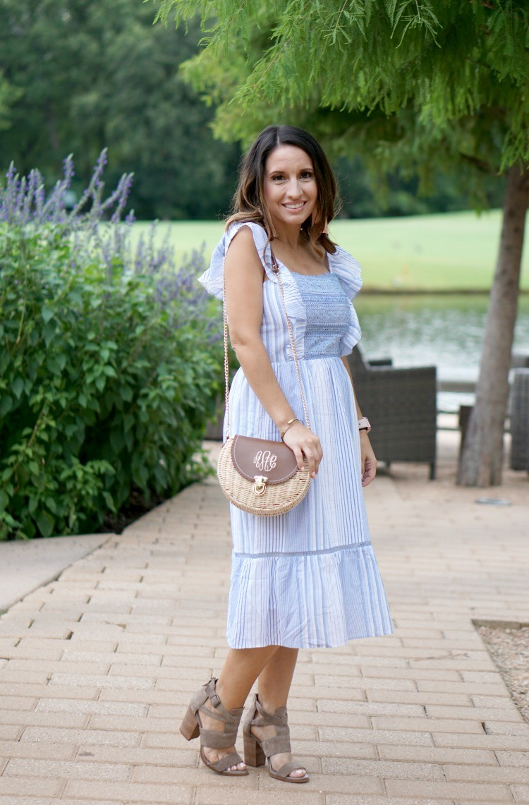 Stripe Ruffle & Lace Sundress