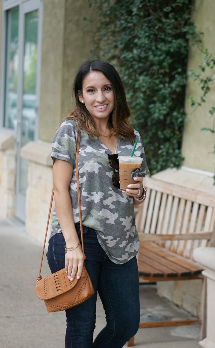 Camo T-Shirt and Skinny Jeans