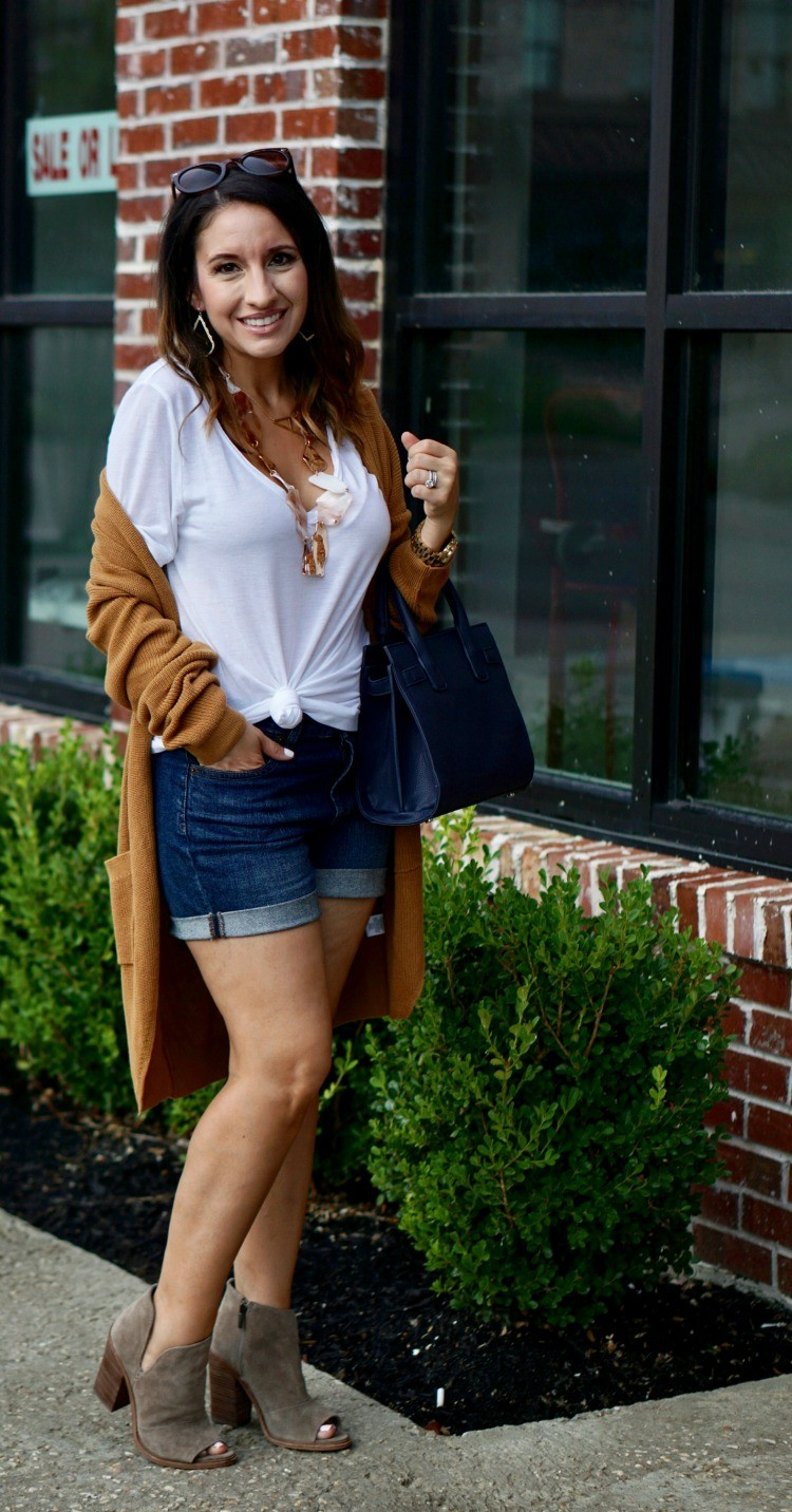 Cardigan and Shorts Combo