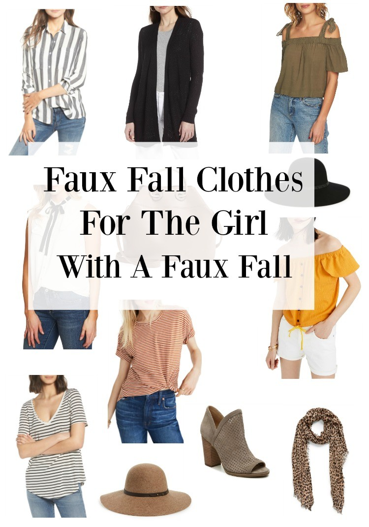 Faux Fall Clothes for the girl with a faux fall