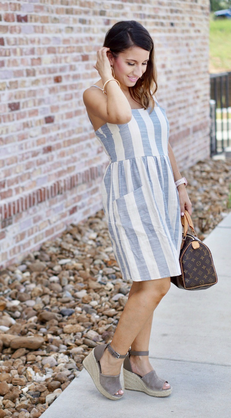 Blue-and-White-Striped-Dress-with-Pockets