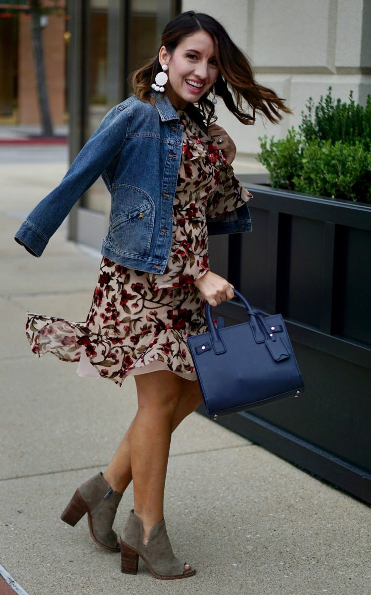 Date night dress, floral dress