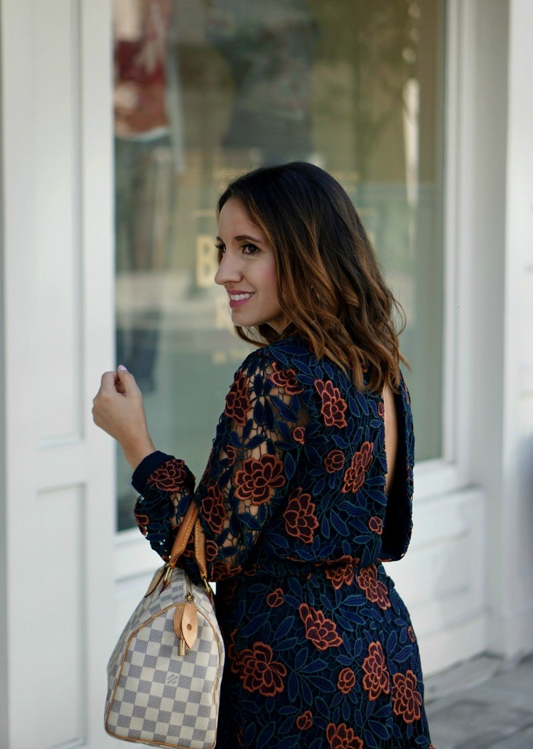 Floral dress with the prettiest back detail