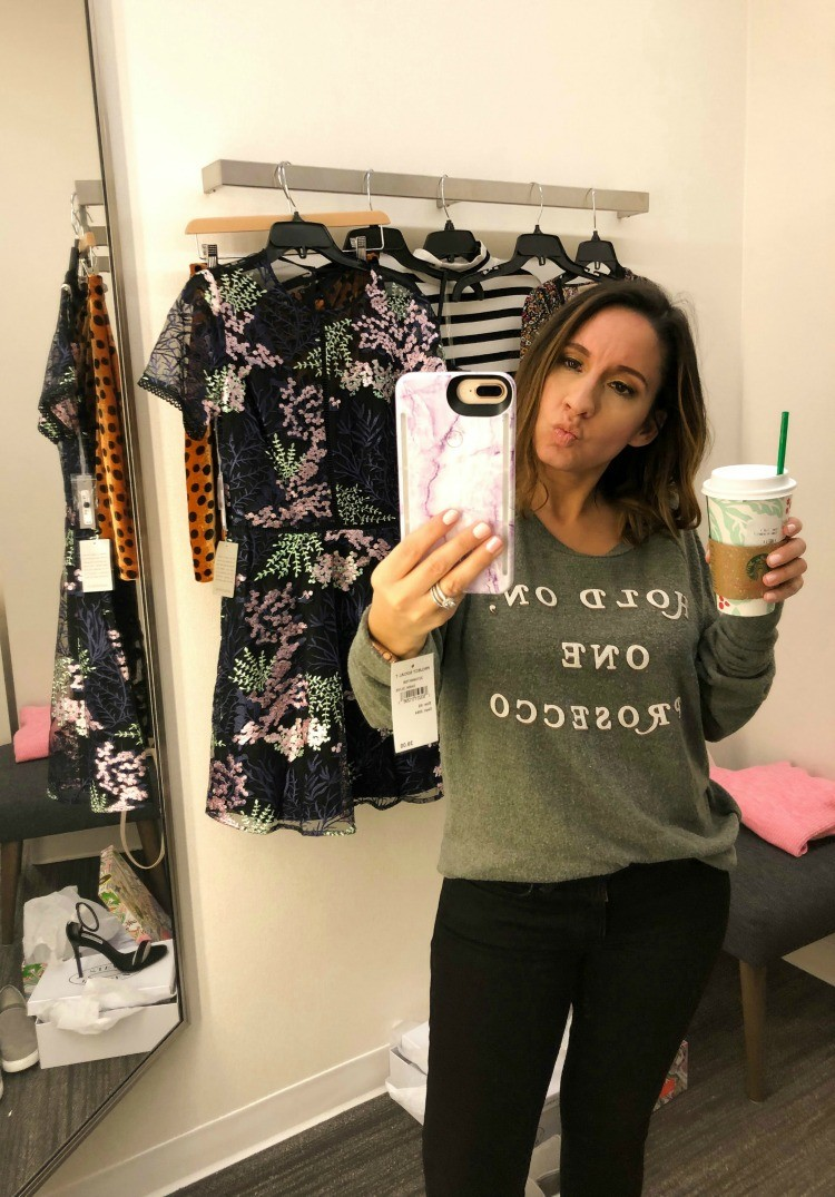 Hold on one Prosecco sweatshirt