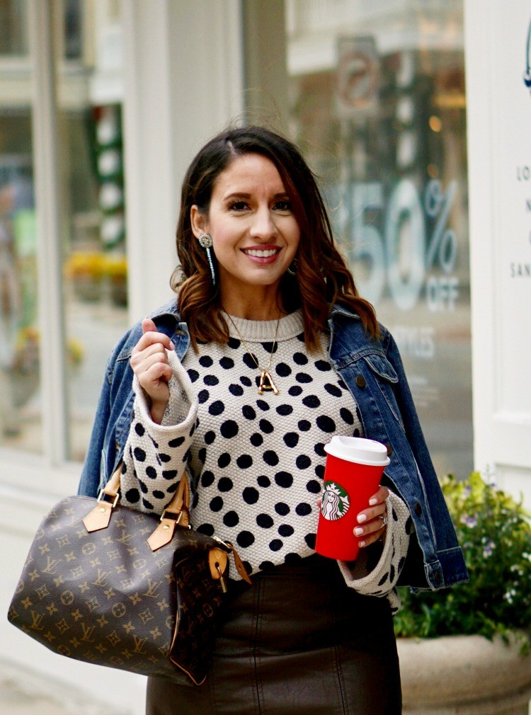 The perfect leopard dot sweater