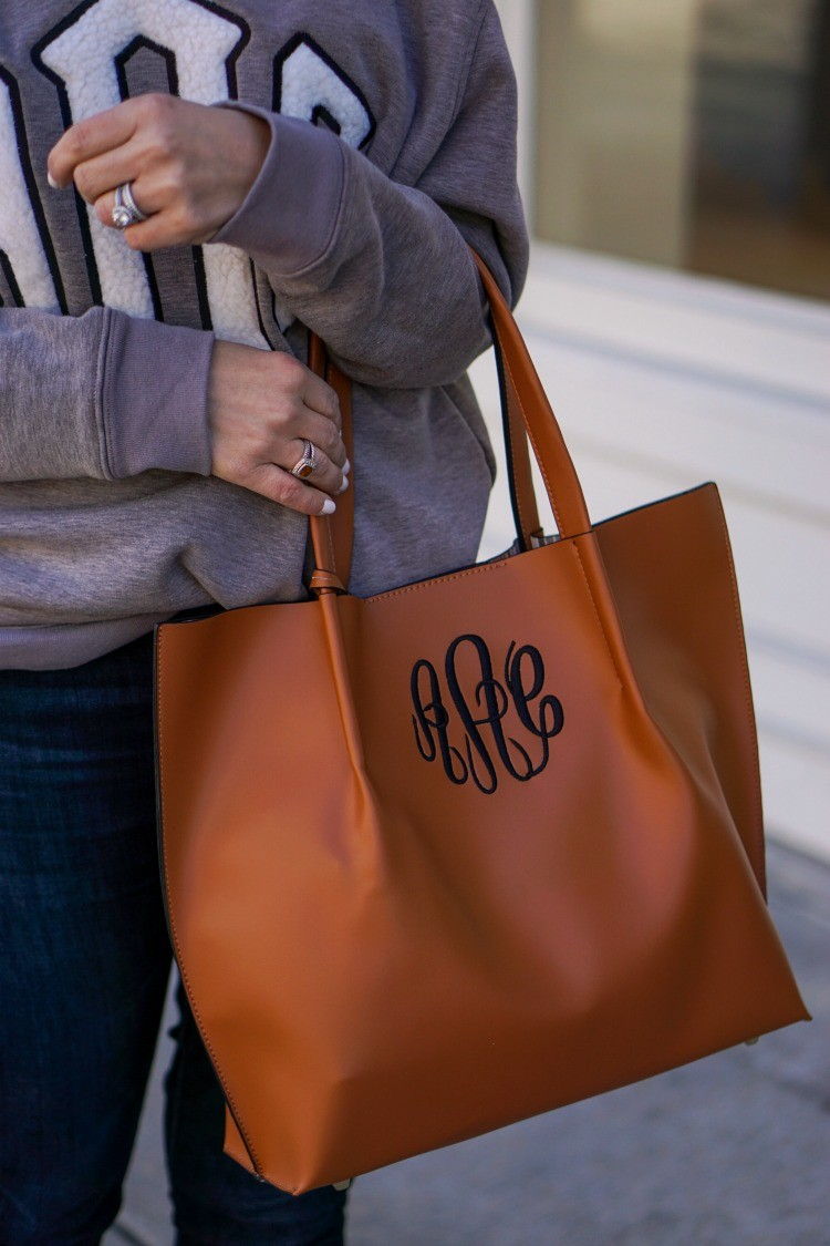 The Perfect Monogrammed Tote and Crossbody bag