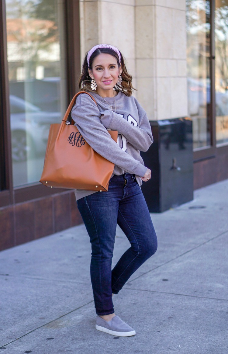 MarleyLilly Sweatshirt and dark skinny jeans