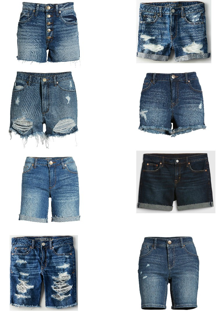 8 Cute Pairs of Jean Shorts under $50