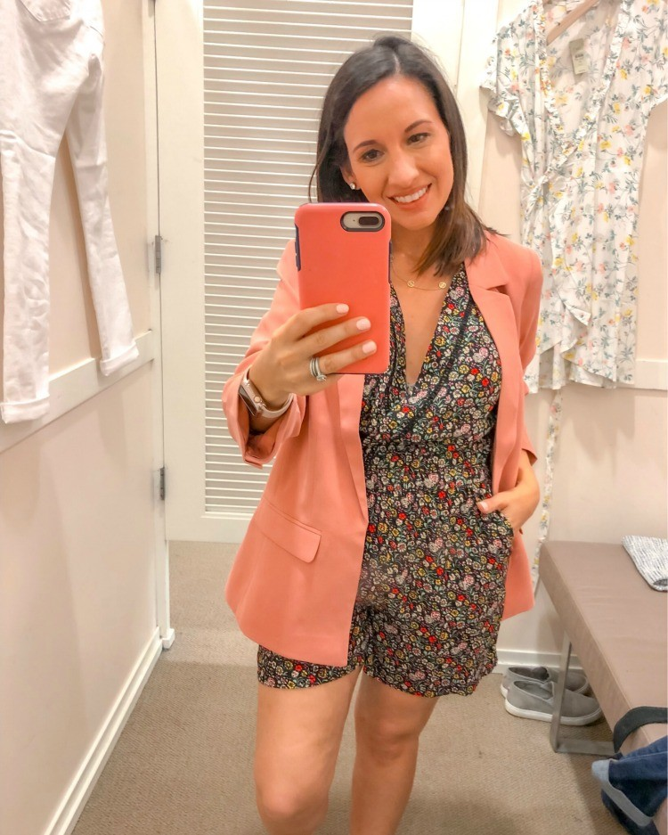 Floral Romper and Blazer