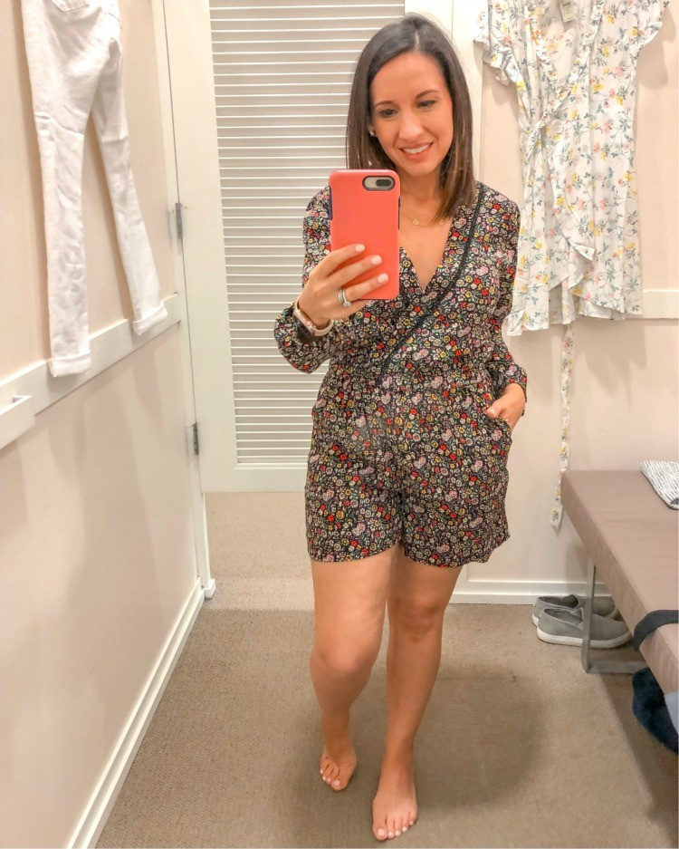 Floral Romper with Pockets