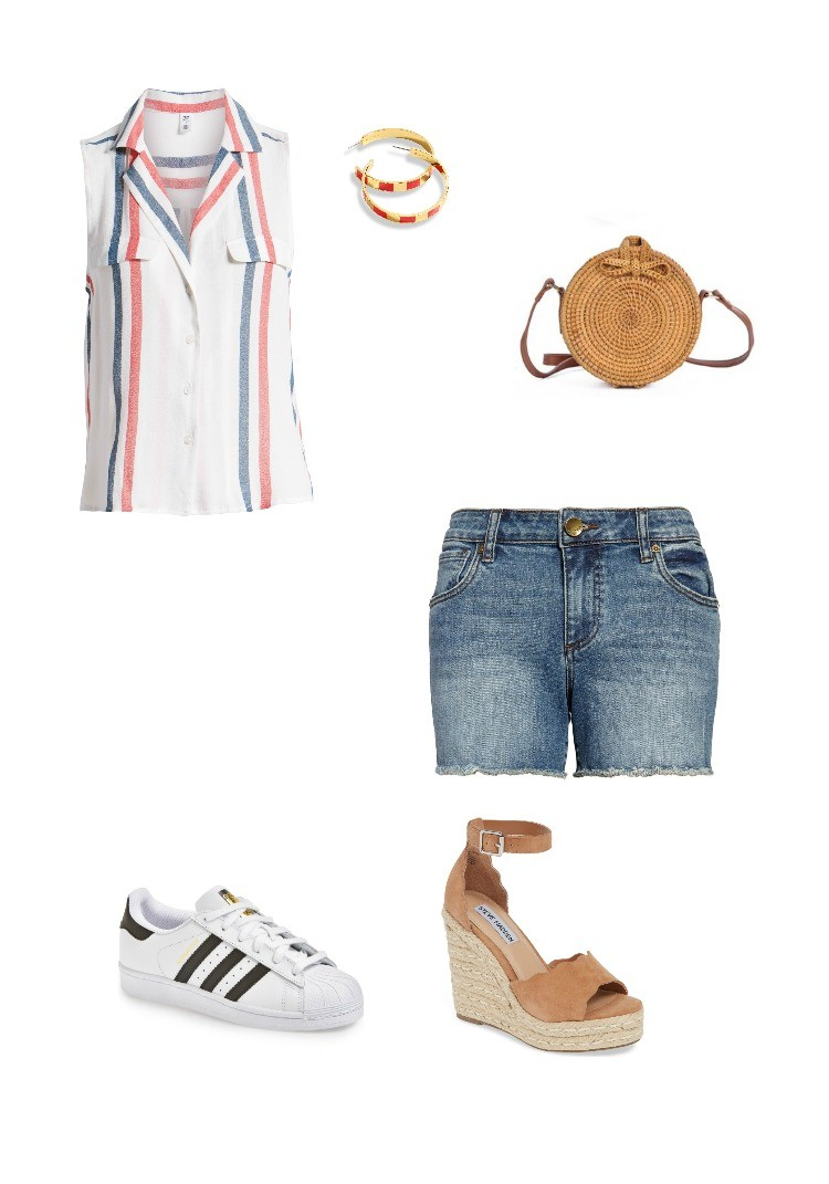 Red, white, and blue memorial Day Outfit