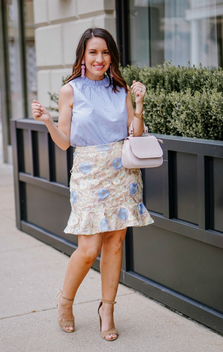 The prettiest workwear outfit